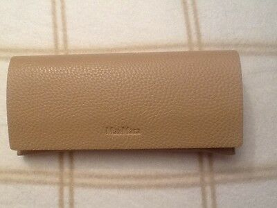 New MaxMara Beige Case Sunglasses / Eyeglasses / Cleaning Cloth