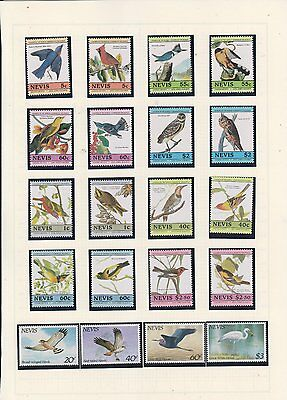 timbres nevis neuf oiseaux