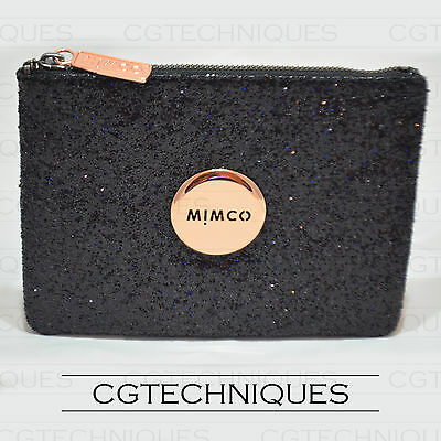 Mimco Black Sparks Fly Medium Pouch Wallet Rose Gold Rrp $99.95