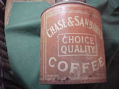 Chase & Sanborn's 5 lb. Bucket Style Coffee Tin