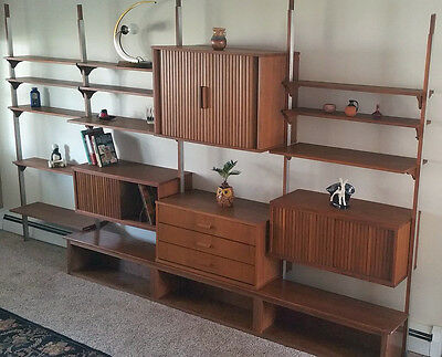 Mid Century Modern Walnut Wall Unit Designers Robert Fullner & Mark J. Furst