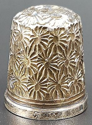 Vintage Sterling Silver Thimble, Decorative, Size 7 by JS & S, Birmingham 1973
