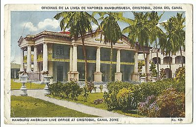 Offices of the Hamburg Steamship Line, Canal Zone, Panama PPC, To Kilmaurs