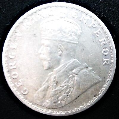 Silver George V King Emperor One Rupee India Coin Key Date 1918