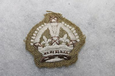 Original WW1 British/Canadian Cloth King's Crown Patch for Uniform