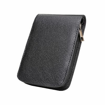 Fountain Roller Ball Pen Case Holder PU Leather Bag for 12 Pens Color Black NEW