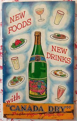 """Vintage Canada Dry Booklet ~ """"The Champagne of Ginger Ale"""" Sales Ephemera"""