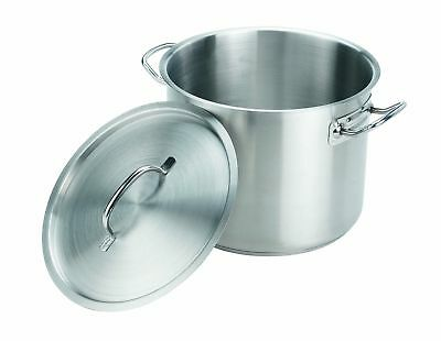 Crestware 35-Quart Stainless Steel Stock Pot with Pan Cover NEW