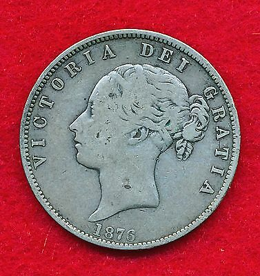 Great Britain 1876 1/2 CROWN .4204 ounces of SILVER!