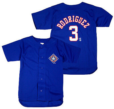 Texas Rangers Alex Rodriguez #3 MLB Youth Blue Replica Jersey