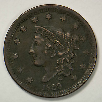 1839 Coronet Head Large Cent - Silly Head     (Lot #2)