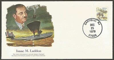 Us 1979 The Pioneers Of Flight Cover #24-Isaac M Laddon   31C Air Mail Stamp