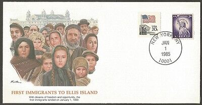 Us Cover 1985 Epic Events-First Immigrants To Ellis Island New York Fleetwood