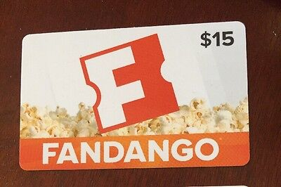 Fandango Gift Card $15 For $13 Free Shipping & Tracking Included