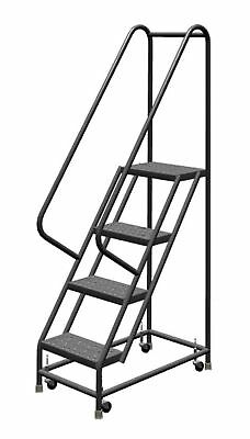 Tri-Arc KDSR104166 4-Step Steel Rolling Industrial and Warehouse Ladder w... NEW
