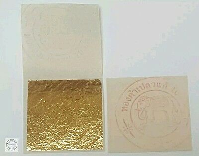 PURE 24K GOLD LEAF SHEET BOOK OF 5, FOOD GRADE + EDIBLE,DECORATING,ART 3.5x3.5cm
