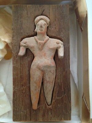 Authentic Pre-Columbian Colima Terracotta Pottery Figure - 300 A.d.