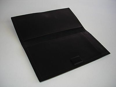Coach Black Leather Checkbook Cover Nice!