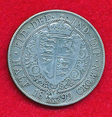 Great Britain 1899 1/2 CROWN .4204 ounces of SILVER!