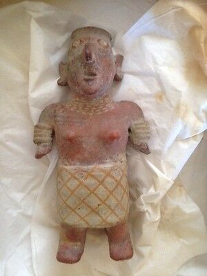 Authentic Pre-Columbian Nayarit Terracotta Pottery Figure - 300 Ad