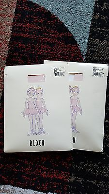 2-BLOCH # T0935G ENDURA Tights for Children ADAPTOE Size CHL Color Pink NEW