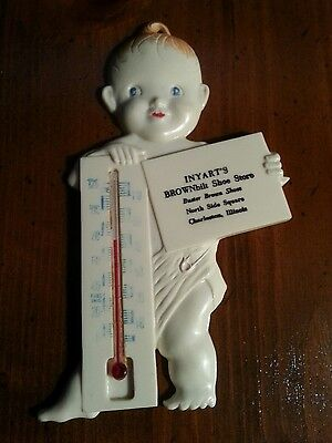 Rare Brownbilt Shoes Buster Brown Shoe advertising Thermometer.