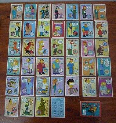 The Simpsons Cards,1994 Skybox 72 Different Cards,1 Card Short of a 40 Card Set.