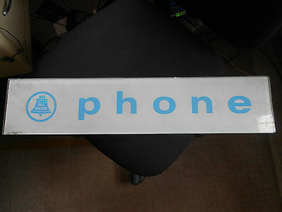 Vintage Glass Telephone Bell Systems Phone Booth Sign