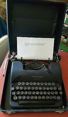 Vintage 1946 L C Smith & Corona Sterling Typewriter With Floating Shift Canada