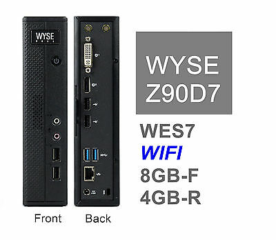 Dell Wyse Zx0 Z90D7 WIFI Thin Client 8GB-F 4GB-R WES7  p/n 909603-21L Lot_Avail