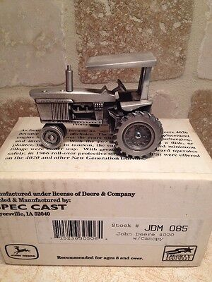*John Deere 4020 Pewter Tractor Spec Cast Toy JDM-0285 Collector  NEW!