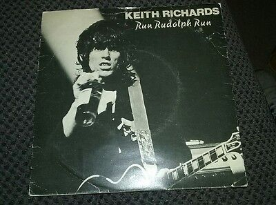 EXTREMLY RARE Keith Richards Run Rudolph Run The Harder They Come Single Vinyl +