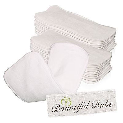 Bamboo Nappy Inserts, Boosters, x 20, 3 layers, 2 Bamboo - 1 Microfibre