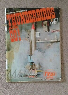 Rare Gerry Anderson's Thunderbirds Are Go - TV21 Special - Softcover Book (1966)