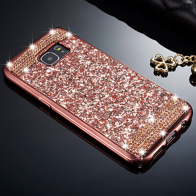 Luxury Soft TPU Glitter Bling Diamond Skin Case Cover For Samsung Galaxy S8 Plus