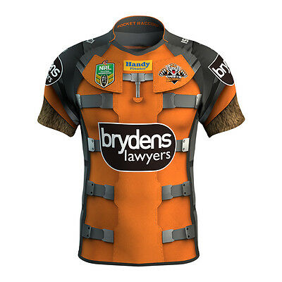 Wests Tigers ISC 2017 NRL Rocket Racoon Marvel Jersey Adults & Kids Sizes!