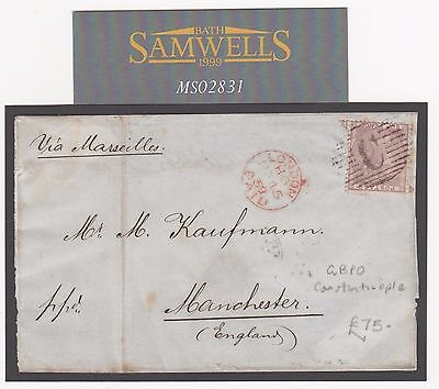 MS2831 1859 GB USED ABROAD British Levant *C* Constantinople Turkey Manchester