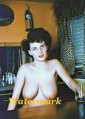 "Donna Mae ""Busty"" Brown 1950s - Pinup Girl, Burlesque Dancer-Photo   M-46"