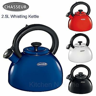 Chasseur Whistling Kettle, Enamelled 2.5L, Induction, Assorted Colour
