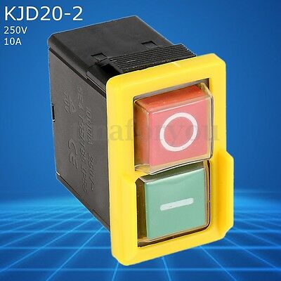 250V 10A 5E4 IP55 KJD20-2 Plastic Safety Switch Common For Workshop Machines