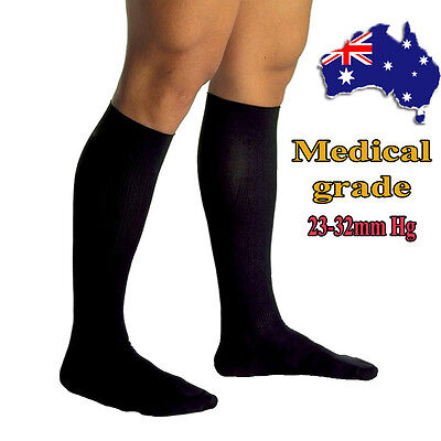 23-32mmHg Travel Flight Socks Medical Compression Support Stockings Closed Toe