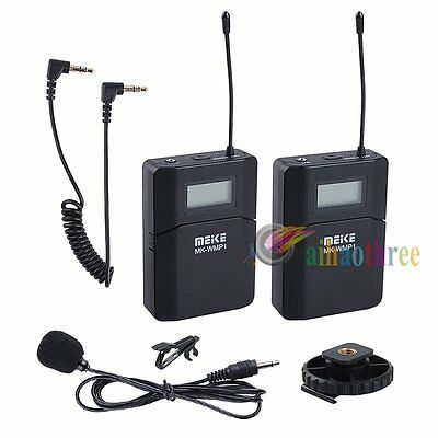MEKE UHF DPLL Wireless Microphone For DSLR Camera Video Recording DV Camcorder