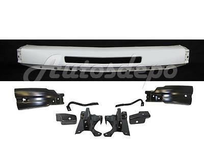 Painted White Front Bumper Bar Brackets for 2007-13 Silverado 1500 w/Hole 9Pcs