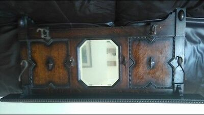antique wall mounted coat hanger with mirror