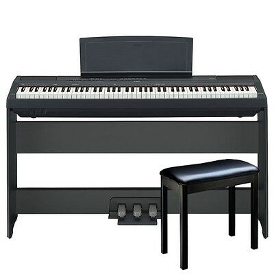 Yamaha P115B Digital Piano Premium Package - Black