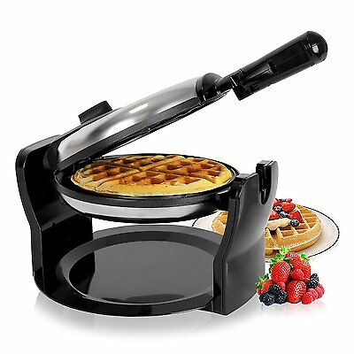 Duronic WM11/SS Stainless Steel 1100W Rotating Belgian Waffle Maker Waffle Iron