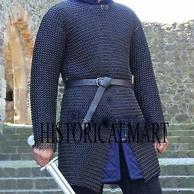 Chainmail Shirt Large Full Sleeve Chain Mail Armor Chainmaile HUBERK chainmail
