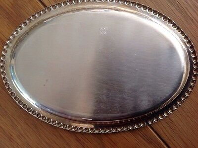Small Real Silver Wedding dish which is enscribed.