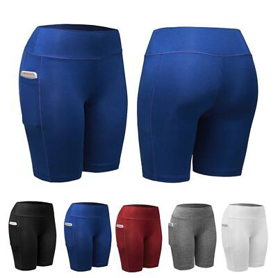 Women Compression Workout Sport Shorts Ladies Fitness Gym Stretch Pants Tights