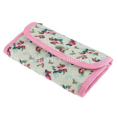 Flower Crochet Hook Pouch Knit Crocheting Needle Case Holder Organizer Bag